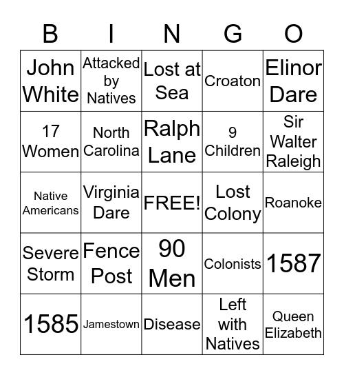 Roanoke Bingo! Bingo Card