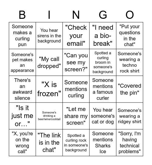 SVCC AGM Bingo Card
