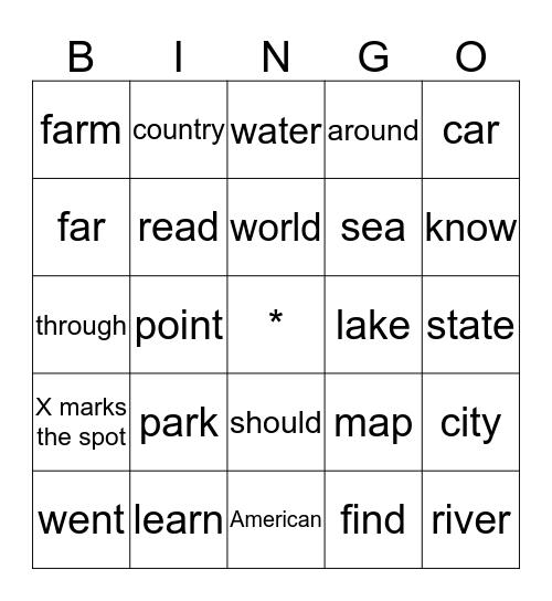 Map Bingo Card