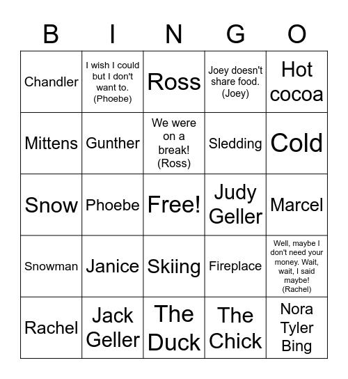 Friends and Winter Bingo Card
