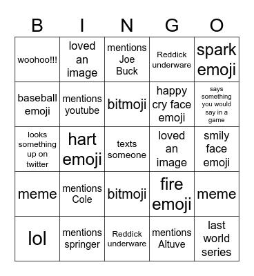 Kari, Belynda, Christine Text Message Bingo Card