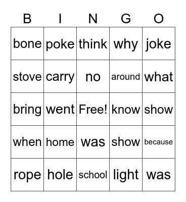 Let's Go to the Moon Bingo Card