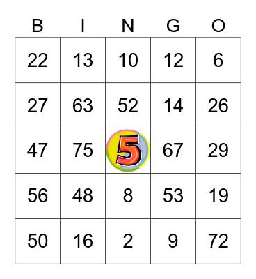 MAYA'S 5 th BIRTHDAY Bingo Card