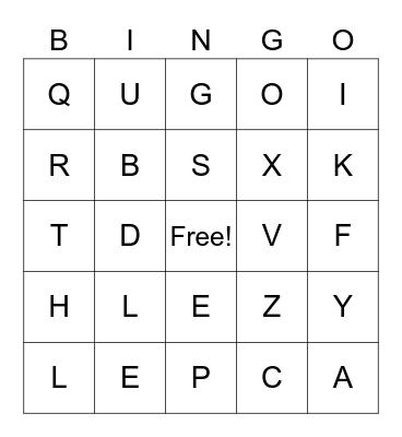 LESLIE Bingo Card