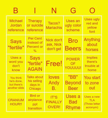 Cliff-ingo Bingo Card