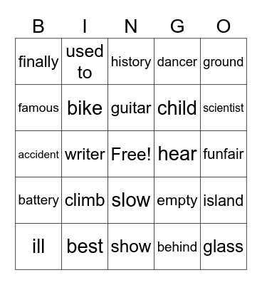 YOU ARE CLEVER Bingo Card