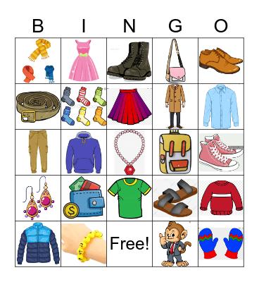 CLOTHING! Bingo Card