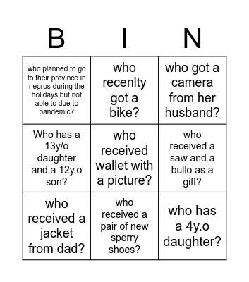 Maverick Bingo Card