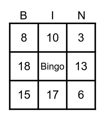 Klavergriend casino Bingo Card