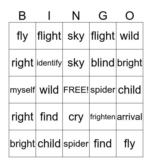 ML/GR Spelling Words 1/5 Bingo Card