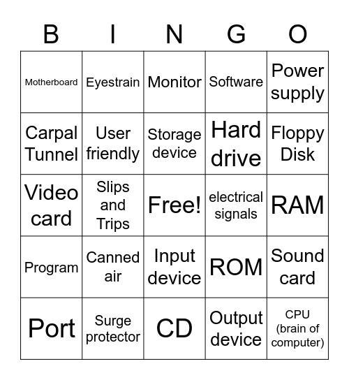 Digital Literacy Bingo Card