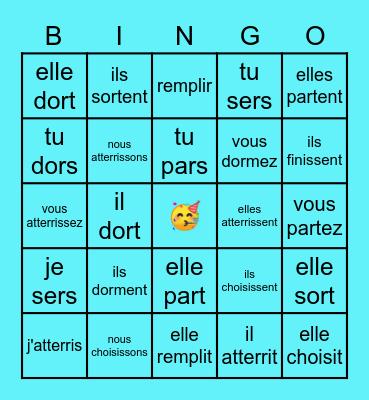 Verbes en IR Bingo Card
