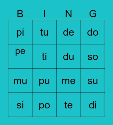Matteo Bingo Card