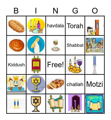 Shabbat Bingo Card