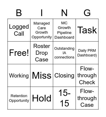 Salesforce Bingo Card