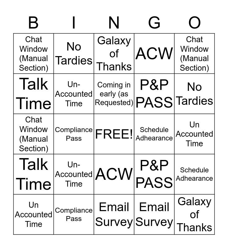 O'Brien's Owl's Bingo Card