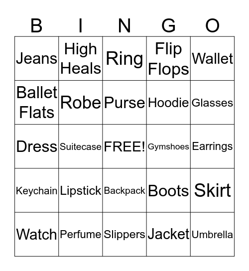 Fashionista Faith's 9th Birthday Bingo Card