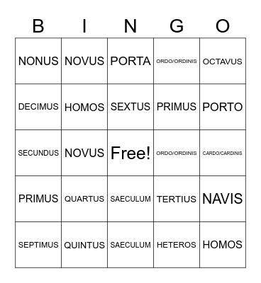 WEEKS10-12 Bingo Card