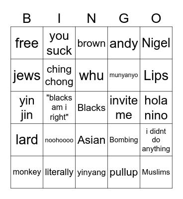 Ormoop Bingo Card