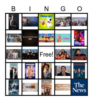 WE LOVE TV Bingo Card