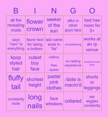 Graha 'Tia Fuckboy Bingo Card