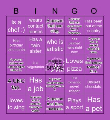 WIE Girls BE READY!!! Bingo Card