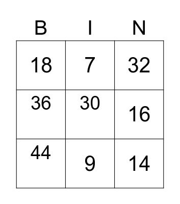 DVN - NOMBRES de 0-69 (en chiffre) Bingo Card