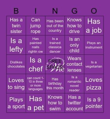 WIE GIRLS GANG Bingo Card