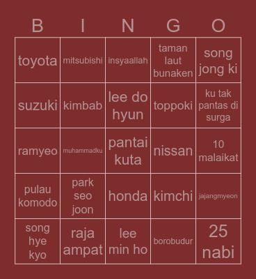 bingo tea Bingo Card