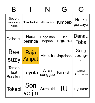 Claudia starlaa Bingo Card