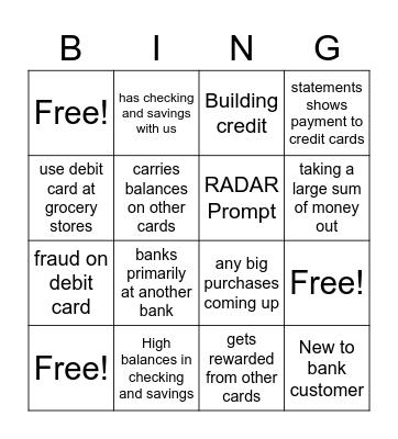 Rewards Need (cc) Bingo Card