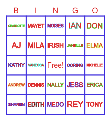 PEOPLE OF BAILEN Bingo Card