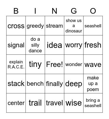 Units 1-3 Bingo Card