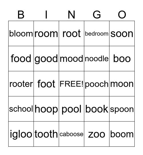 U-ew,ue,u,u_e Bingo Card