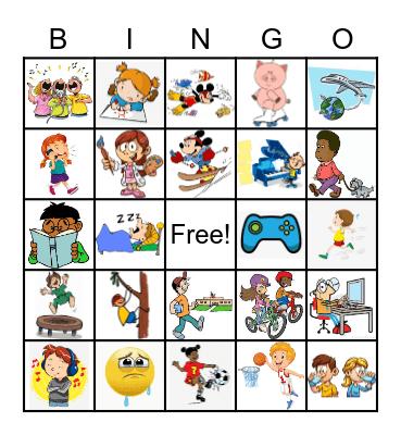 Los verbos Bingo Card