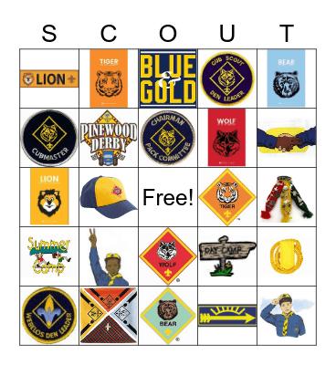 Cub Scout Bingo Card