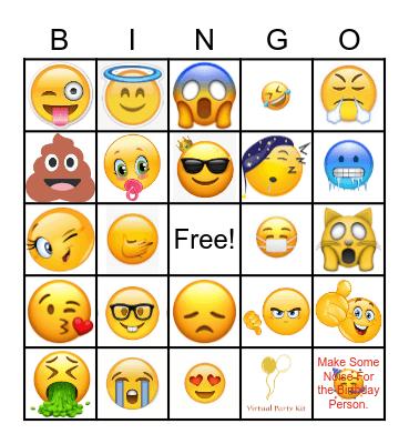 Virtual Party Kit Emoji BINGO Card