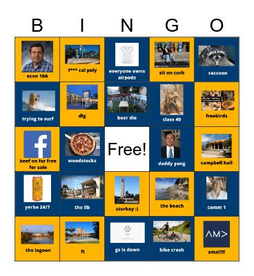 UCSB AMA Social #2 Bingo Card