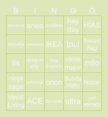 TiTi Bingo Card