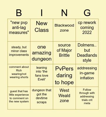 Gates of Oblivion Reveal Bingo Card