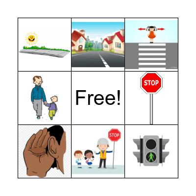 Pedestrian Safety Bingo Card