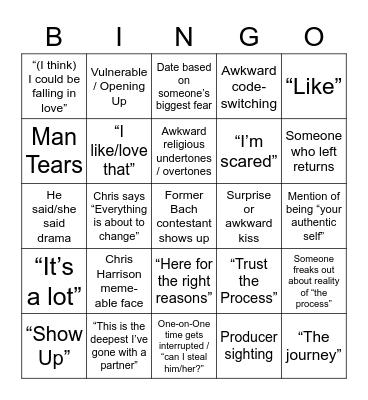 Bach Bingo Card