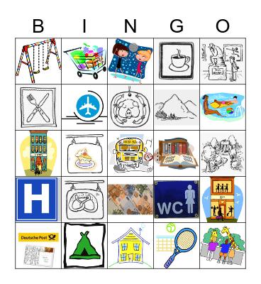 Gehen wir aus! Bingo Card