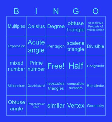 Int. 5 Lesson 21-40 Vocab. Bingo Card