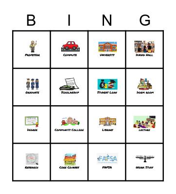 PS/MS 105 College Lingo BINGO! Bingo Card