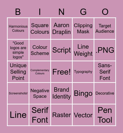 Graphic Design Logo Bingo Card