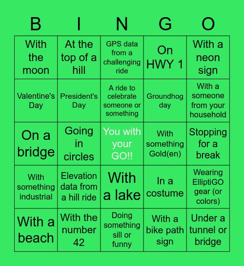 ElliptiGO Photo Bingo!! Bingo Card