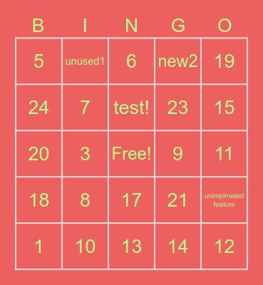 new1 Bingo Card