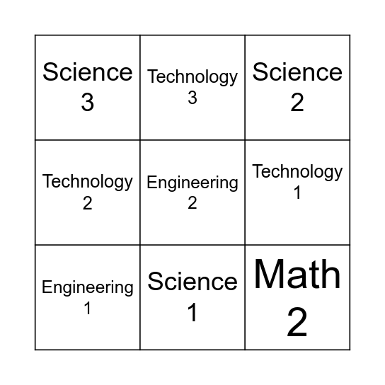 Spring Into STEM Bingo Card