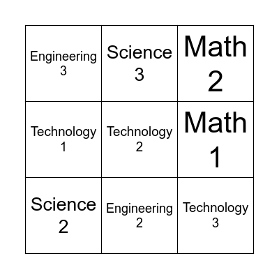 Spring Into STEM Bingo Card Bingo Card